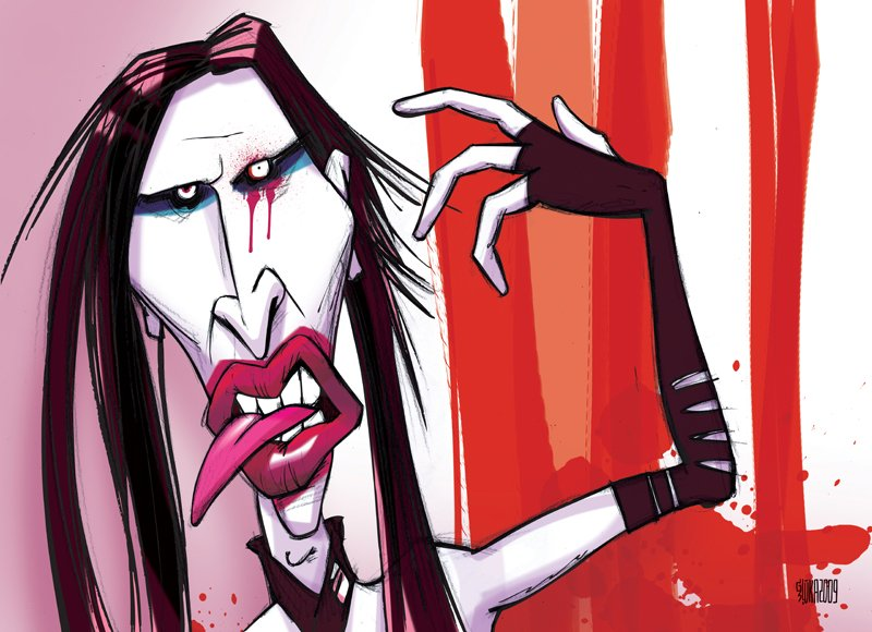 Marilyn Manson illustration Gatis Sluka