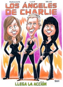caricatura personalizada, Ángeles de charlie