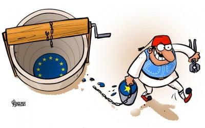 Grieķijas krīze karikatūrās