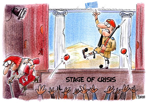 Greece crisis cartoons