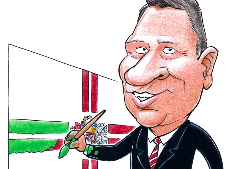 president of Latvia caricature, Raimonds Vejonis