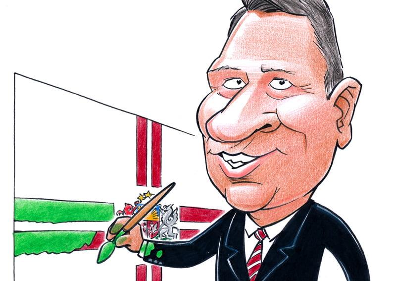Карикатура президента Латвии Раймонда Вейониса
