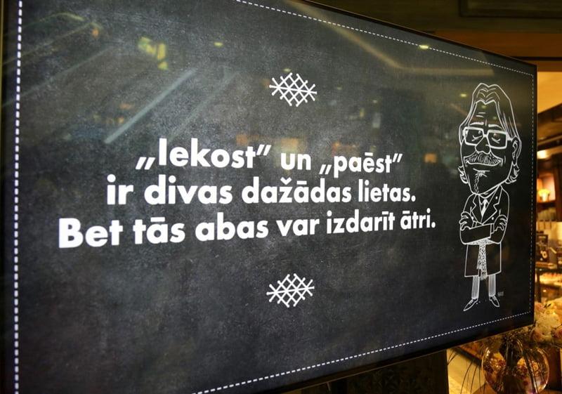 Ķirsons, karikatūra, Lido, Galleria Riga