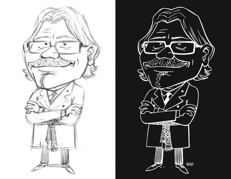 Ķirsons, lido, karikatūra Gatis Šļūka, Galleria riga