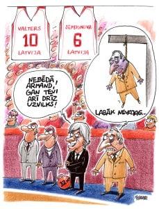 Valdis Valters karikatūra, Armands Krauliņš, nr. 10