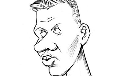 Kristaps Porzingis caricature