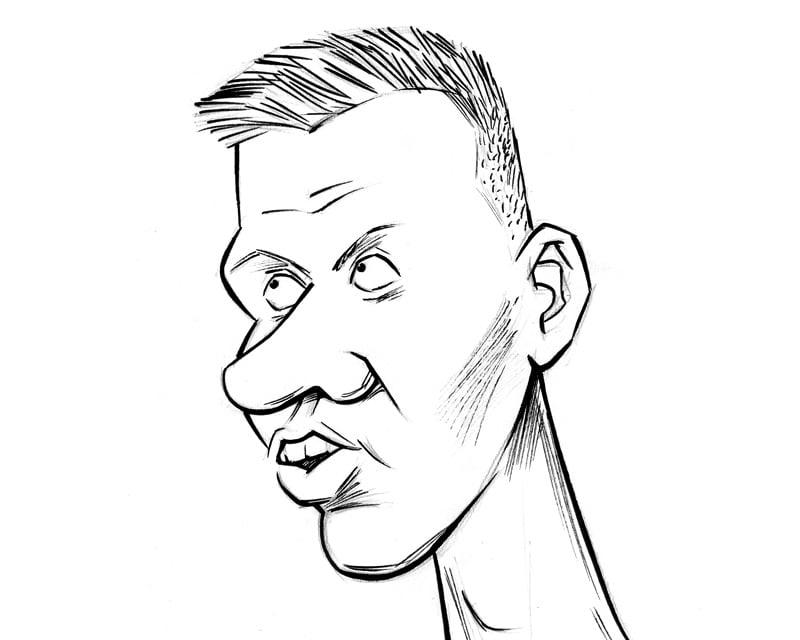Kristaps Porzingis caricature, cartoon sketch, Gatis Sluka, NBA, New York Knicks