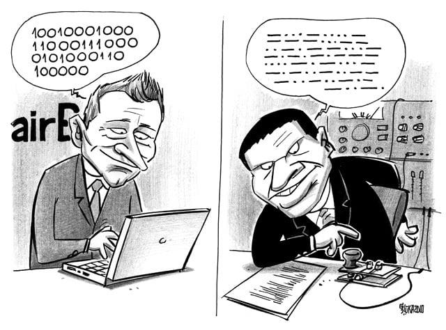 AirBaltic karikatūra, Gatis Šļūka, Fliks, Gerhards
