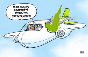 AirBaltic karikatūra, Gatis Šļūka, lidmašīna