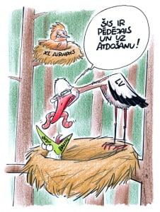 AirBaltic karikatūra, Gatis Šļūka, Dombrovskis, Fliks