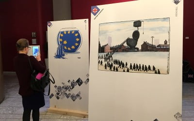 Cartooning for Human Rights exhibition