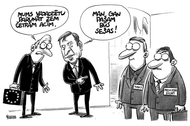Māris Kučinskis, Šļūka, politiskā karikatūra