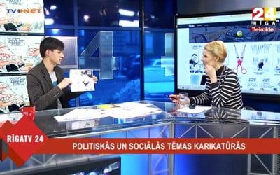 Par karikatūrām RīgaTV 24