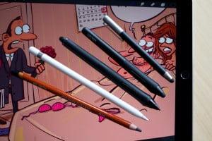 Zīmēšana ar Apple Pencil, iPad Pro, tests