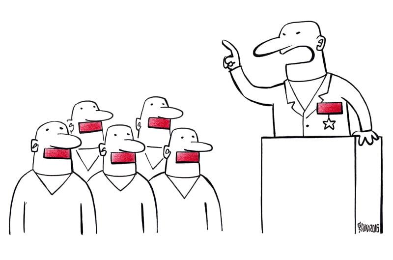 Sarunu festivāla LAMPA karikatūru izstāde