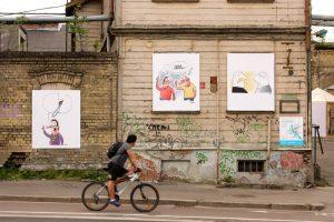 Bruņinieku iela, Gatis Šļūka, karikatūras, festivāls Lampa