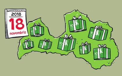 Animācija iniciatīvai 100 darbi Latvijai