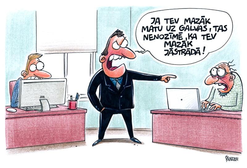 Vadītāja špikeri, karikatūra, Gatis Šļūka