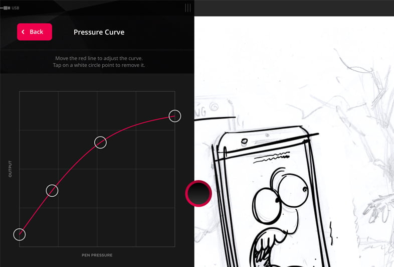 Astropad pressure curve similar to wacom intuos, ipad pro
