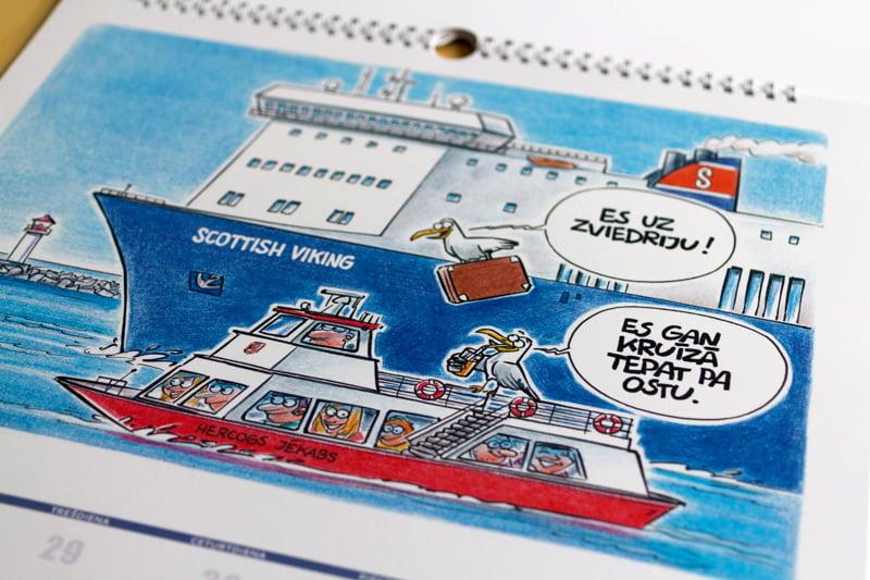 Karikatūra kalendāram, Ventspils brīvosta