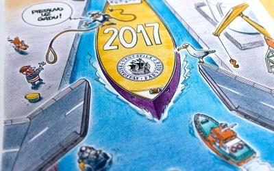 Ventspils brīvostas karikatūru kalendārs