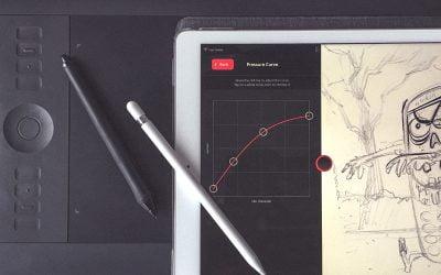 Kā Apple Pencil padarīt līdzīgāku Wacom Intuos Pro zīmulim