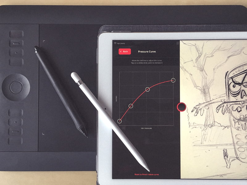 The best Astropad Studio pressure curve settings