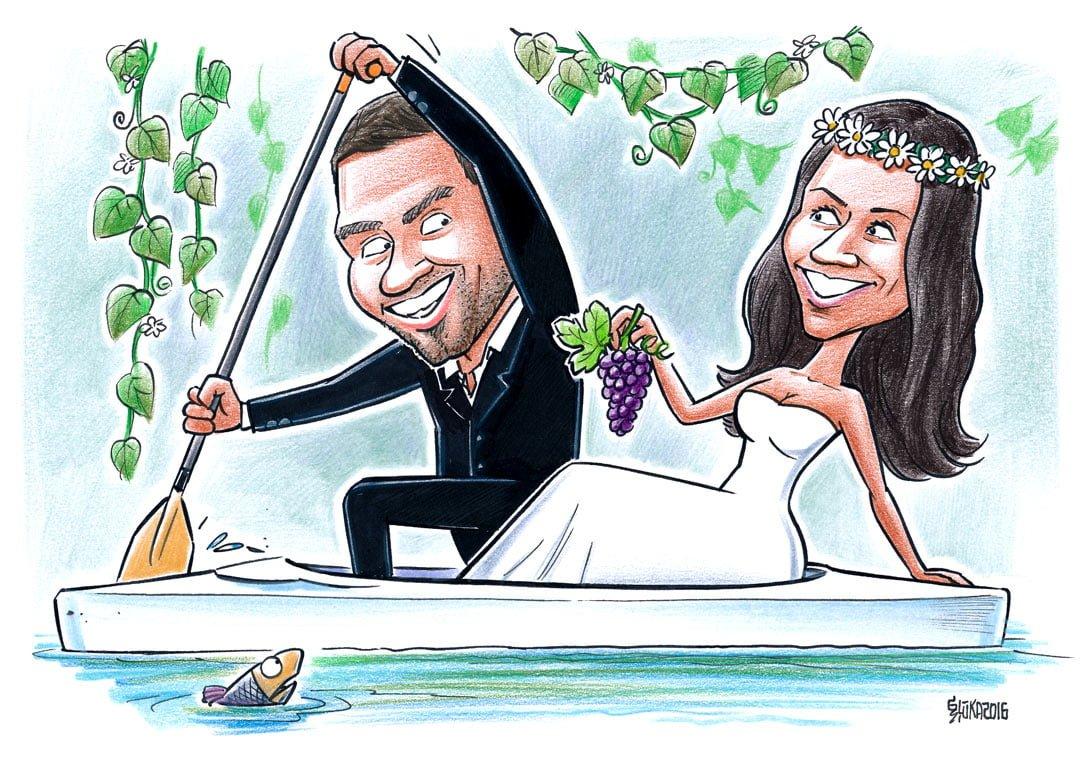 Karikatūra kāzās, karikatūra kāzu dāvana