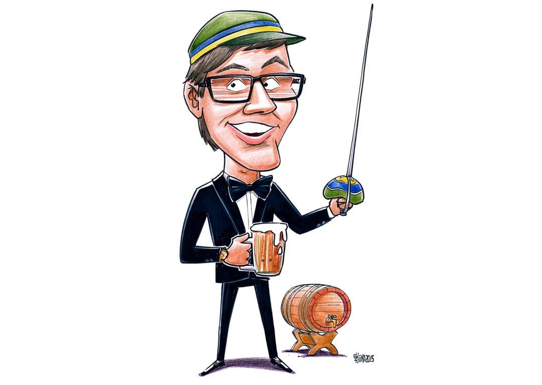 Karikatūru dāvināšana, karikatūra kā dāvana