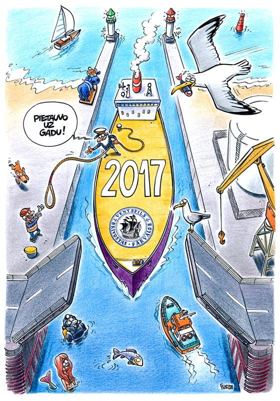 Ventspils karikatūru kalendārs, Gata Šļūkas