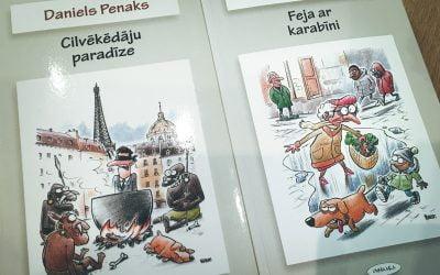 Daniela Penaka grāmatas Feja ar karabīni vāka ilustrācija