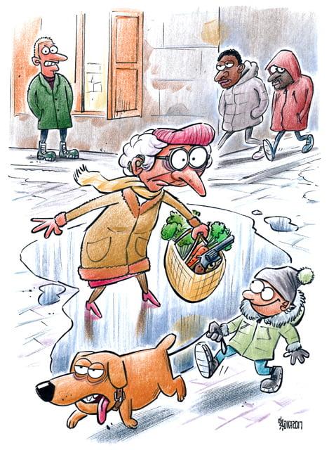 grāmata Feja ar karabīni, ilustrācija, Gatis Šļūka