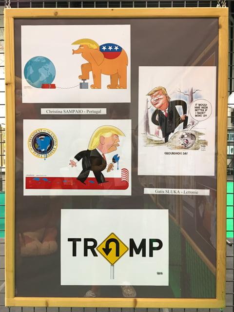 Gatis Sluka cartoons, Trump cartoon