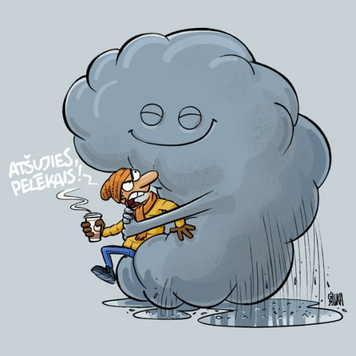 Pelēkais mākonis, karikatūra, Gatis Šļūka