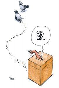 Īsi par demokrātiju, karikatūra