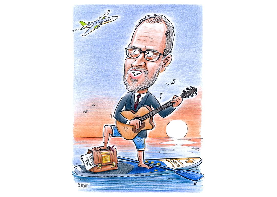 Karikatūras zīmējums, karikatūra dāvana