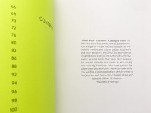 Latvian illustrators book, catalogue, contents