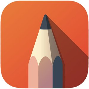 Sketchbook drawing app icon
