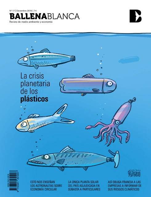 La crisis planetaria de los plasticos caricatura, portada de la revista